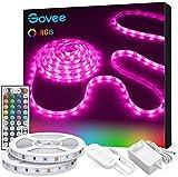 Govee Ruban à LED 10m Bande LED RGB Multicolores Améliorée Lumineuse avec Télécommande Décoration d'Armoire pour Maison Chambre Cuisine, Découpable