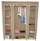 teprovo Armoire Pliable Vestiaire penderie armoire à linge 150x45x175 cm 4 couleurs - Beige