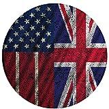 Pride America Drapeau de l'Angleterre Coussin de siège antidérapant confortable Coussins de chaise circulaire Tapis rond Tapis rond Tapis de chaise pivotante mignon Tapis de couverture de tabouret Tap
