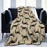 DYJNZK Couverture,Chien De Berger Allemand Alsacien Jeter La Couverture Super Doux Flanelle Léger Automne Hiver Printemps pour Lit Canapé Chaise Salon