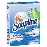 SOUPLINE - Sachets Armoire Parfum Grand Air - Parfume le linge pendant 6 Semaines - Lot de 3 Sachets prédécoupés à suspendre ou à mettre directement dans un placard ou un tiroir