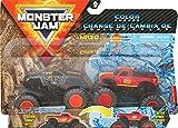 Monster Jam 6060878 Officiel Max-D vs. Radical Rescue Monster Trucks à Changement de Couleur, échelle 1/64