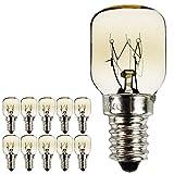 Lot de 10 ampoules pygmées SES E14 avec culot à baïonnette - Ampoules pour four/micro-ondes résistantes jusqu'à 300 °C - Ampoules de nuit