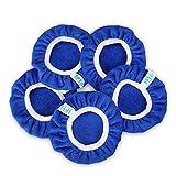 SPTA 5 Pièces (125-150mm) Bonnets de lustrage Bonnets en Microfibre de Polissage Ensemble de Bonnets de Polissage Polissage polir Bonnets électrique pour Polisseuse-lustreuse orbitale