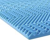 INNOCENT® Sur-matelas en mousse gel viscoélastique à mémoire de forme 7 zones (sans housse) 180 x 200 cm Hauteur 5 cm Protection pour matelas et lit à sommier tapissier contre les maux de dos