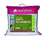 Blanrêve - Oreiller Anti acariens - à base d'huiles essentielles - confort Ferme - 60x60 cm