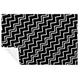 CHINFY Couverture polaire Zig Zag noire et blanche – Jeté de lit/voyage – Couverture en peluche douce et moelleuse – Hypoallergénique – Réversible – Légère