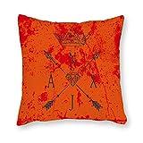 AILOVYO Taie d'oreiller en toile Motif flèche rétro Impression double face Housse de coussin carrée pour canapé, lit, canapé, décoration, Couleur 2, 45 x 45 cm