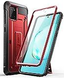 SUPCASE Coque Samsung Galaxy Note 10 Lite, Coque Antichoc Protection Intégrale avec Protecteur d'écran Intégré, Béquille, Clip de Ceinture [Unicorn Beetle Pro] pour Samsung Note 10 Lite 2020 (Rouge)