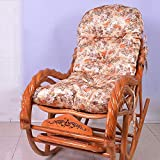 Jardin extérieur épaissir les coussins de chaise berçante pour meubles de patio, coussin de siège de chaise longue portative à dossier haut coussin antidérapant de chaise longue largeur 50x130 cm (20x