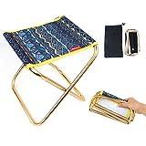Sprießen Mini Tabouret Chaise de Camping Siège Assise Pliant Portable Pliable Ultra Léger Chaise, Hiking, BBQ, Jardin Pique-Nique Plage(27 cm * 24,5 cm * 22,5 cm)