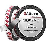 GAUDER Bande Magnétique Autocollante Forte | Bandes Magnétiques avec Support Adhésif | Ruban Magnétique