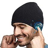 Idee Cadeau de Noël Bonnet Bluetooth - Unisexe Music Bonnet Bluetooth Cadeaux Hommes Original, Doux Chaleureux Bluetooth Musique Bonnet Hiver, Cadeau Homme/Femme/Papa/Maman/Couple/Collègue de Noël