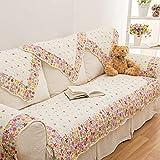 WSFJ Coton Double Sens Rembourrage du canapé,Jardin Anti-dérapant Couverture de canapé Serviette canapé Hublot de Compartiment Textile Housses-A 90x120cm(35x47inch)