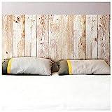 Autocollant mural tête de lit planches de bois