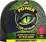 Pattex Power Tape Extrême, Ruban Adhésif 2 Fois Plus Épais et Résistant, Bande Adhésive Extra Collante pour Réparations, Rouleau Adhésif Adapté à de Nombreux Usages, Noir, 20 m