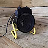 ELITTE 3KW Radiateur Soufflant Chauffage électrique Industriel Autoportant éTanche L'Usine RéChauffeur avec Le Thermostat Silencieux