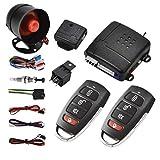 Kit d'immobilisation de système d'alarme de voiture Riloer - Démarrage à distance de verrouillage central de voiture et système d'entrée sans clé, pour Kit central à distance automatique universel
