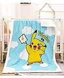 Couvertures, Couverture Pokemon ultra-douce et chaude en peluche Lit Fuzzy Couvertures Microfibre Canapé-lit for les enfants adultes All Season plaids Snug Rug (Color : D, Size : 150 * 200cm)