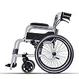 WEI-LUONG Pliante Chaise Rééducation, Chaise roulante, ultra-léger en aluminium pliant portable en alliage Adapté aux chaises roulantes personnes âgées handicapées, Fauteuils roulants manuels et Voyag