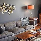 1 taie d'oreiller décorative40 x 40CM,New York, NYC sur Manhattan du Haut des Gratte-Ciel de la Culture Mondiale Urbaine Artful Taie d'oreiller Decoratif Douce pour Maison Salon Chambre Lit Bureau
