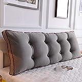BTPDIAN Dos de lit, Oreiller Long de Coussin de canapé, Le Dossier est positionné pour Supporter l'oreiller, la Lecture et Les oreillers (Couleur : F, Taille : 120cm)