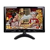 YUZEU 10,1 Pouces HD CCTV Moniteur, Moniteur LCD Couleur 1024x600 avec Taut-Parleur Bouton Tactile HDMI VGA AV pour DVR Surveillance de la sécurité PC pour Le Bureau à Domicile