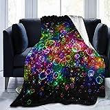 Bright Beautiful Bubbles Art Print Couverture Polaire Ultra-Douce Flanelle Velours Couverture de Jet en Peluche All Season Bed Sofa Cover 3 Size80 x60 80 'x60
