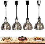 4 Pack Food Chauffage Chauffage Lampe Cuisine Lumières de cuisine Server Buffet Server Food Charge-lustre en métal, Prévenez de la nourriture d'obtenir un équipement de restaurant froid YZPFSD