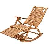 Chaise de Jardin Pliant inclinable Fauteuil à Bascule Jardin Extérieur pour Enfant Adulte Fauteuil Relax Jardin Chaise Longue Bain de Soleil Pliable Relaxant Confort