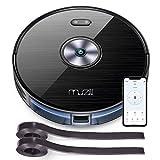 Muzili Aspirateur Robot 120min max Wi-FI Alexa App Nettoyeur Laveur Automatique 600ML+300ML Capacité Auto-recharge 6 modes idéal pour Poils d'Animaux Tapis et Sol Capteur de Collision