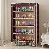Porte-Chaussures de Meubles ZXL, Porte-Chaussures de 6 Niveaux, Non-tissé Sauveau d'épargne de Chaussures de Chaussures à Chaussures à Chaussure Armoire de Chaussure 62 * 30 * 108cm (Color : D)