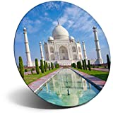 Destination 15742 Aimant en vinyle pour réfrigérateur, réfrigérateur - Indien Taj Mahal Building India pour bureau, armoire et tableau blanc