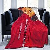 Couverture pelucheuse Elvis Aaron Presley pour canapé, lit, chaise, couverture polaire moelleuse pour canapé 203,2 x 152,4 cm