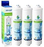 3x AquaHouse UIFS Filtre d'eau compatible pour réfrigérateur Samsung DA29-10105J HAFEX/EXP WSF-100 Aqua-Pure Plus (filtre externe uniquement)