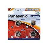Panasonic Lot de 4 piles bouton au lithium CR2032 3 V
