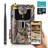 SUNTEKCAM 4G Caméra de chasse vidéo en direct 4K avec 30MP et LED infrarouge, vision nocturne, avec caméra de surveillance de transmission de téléphone portable Avec carte de débit