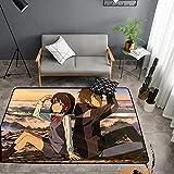 Tapis De Salon Moderne Et Design, Tapis Moelleux Antidérapant, Anime Ton nom, Convient Au Salon, À La Chambre À Coucher, Au Couloir. (D-3343) 60x90cm