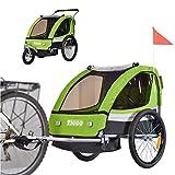 TIGGO World Convertible Jogger Remorque à Vélo 2 en 1, pour Enfants BT504-D02 Vert