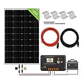 ECO-WORTHY 100 W 12 V Module Solaire Panneau Solaire Cellule Solaire Pour Recharger - Régulateur de charge de batterie 20 A - Contrôleur intelligent pour système de chargement 12 V