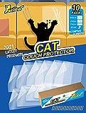 Petotw Lot de 10 protecteurs de meubles de chat, dissuasif de chat plus épais et plus épais, pour canapé, canapé, porte, murs, matelas, siège d'auto
