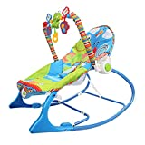 Uing Chaise berçante transat pour bébé 3-en-1 et Fauteuil inclinable Convertible pour Tout-Petit avec Ceinture de sécurité à Coussin Amovible et rehausseur de Musique Baby Calm Down Successful