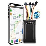 SinoTrack Traceur GPS 3G pour véhicules, localisateur de voiture ST-906W en temps réel avec bouton SOS et micro vocal, compatible avec iOS et Android à vie