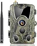 SuntekCam Caméra de chasse 4 G 20 MP 1080P HD avec détecteur de mouvement IP66 étanche à l'eau et à la poussière Caméra de surveillance avec téléphone portable MMS SMTP FTP