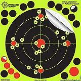 Paquet de 50-20,3cm Stick & Splatter Adhésif Splatterburst Objectifs de tir - Les Coups Jaunes Brillants sont faciles à Voir - Perfect pour Toutes Les Armes à feu, fusils, Pistolets, Airsoft