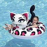 WZXHN Accessoires de Natation léopard Chat Ballon géant Piscine Animale Flotteur drôle Gonflable Vinyle Piscine d'été Plage Jouet Grand Cadeau