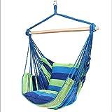 Hamac Air Chaise, chevilles, balançoire en bois, chaise longue suspendue – Repose-pieds, accoudoirs, coussin de soutien