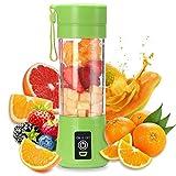 Mélangeur portable automatique de 400 ml, vert, charge rapide, extraction de jus, convient à la cuisine à domicile, aux boissons pour le petitdéjeuner, au thé de l'aprèsmidi, au bureau