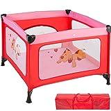 TecTake Parc pour Bébé Lit de Bébé Parapluie Pliant avec Sac de Transport - diverses couleurs au choix - (Rose | No. 402206)