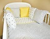 Tour de lit tour de lit bébé 210cm design101Tour de lit Protection des Bords Protection de la tête pour lit bébé lit équipement